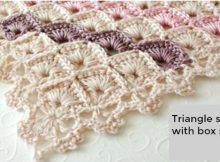 Crochet Triangle Shawl Box Stitch