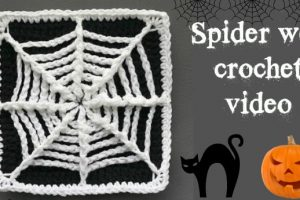 crochet spider web coaster