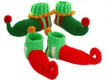 Crochet Elf Shoes Christmas Crochet Pattern