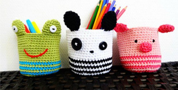 Ami Baskets Panda, Piggy and Frog Patterns