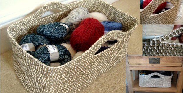 Rope Crochet Basket