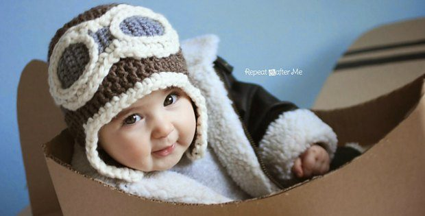 How To Crochet Aviator Hat - Adorable Baby Or Adult Crochet Pattern