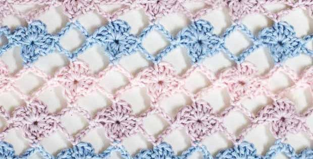 How to crochet the Flower Lattice Stitch, easy tutorial