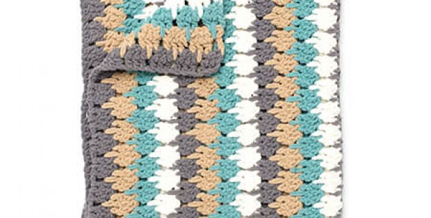 Larksfoot Crochet Stitch Blanket