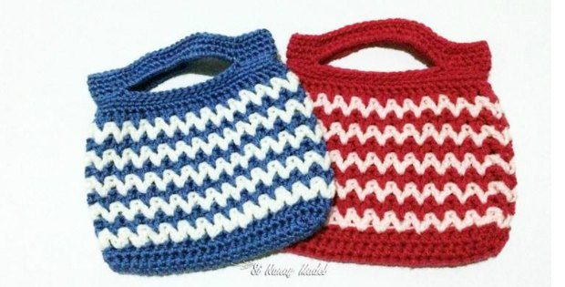 Crochet Handbag V-Stitch