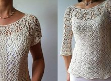 Summer Crochet Top Pattern Lacy Shells Stitch Flattering Fit