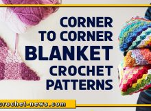 CORNER TO CORNER CROCHET BLANKET PATTERNS