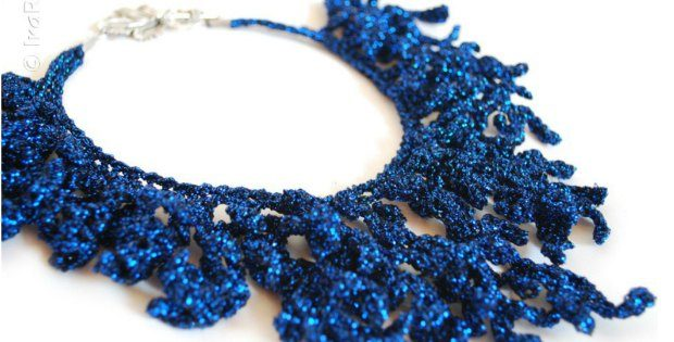 Crochet Coral Reef Necklace