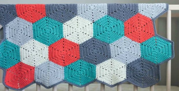Crochet Afghan Blanket Hexagon Patterns - Crochet blanket patterns