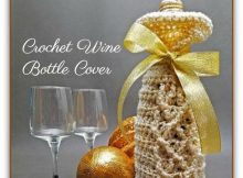 Crochet Wine Bottle Cover  The Perfect Gift This Christmas. 220x162 c