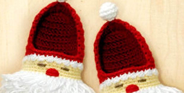 Crochet Santa Boots Adorable Christmas Crochet