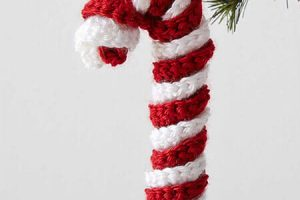 Christmas Crochet Candy Cane Pattern