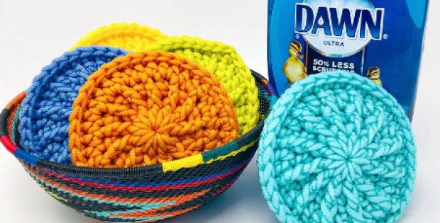 su kitchen scrubber crochet pattern