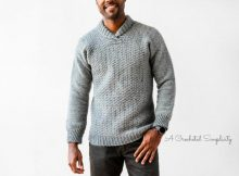 wulf mens pullover sweater crochet pattern