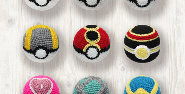 Crochet Pokemon Balls Pattern by LHC Patterns