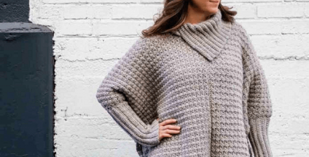 Crochet Poncho With Sleeves Pattern by Make And Do Crew