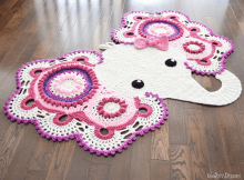 Elephant Rug Crochet Pattern by Irarott Patterns