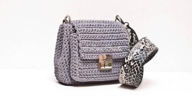 handmade detailed crochet crossbody sling bag