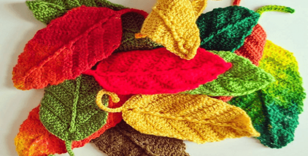 Crochet Leaf Pattern by Kates Corner Online