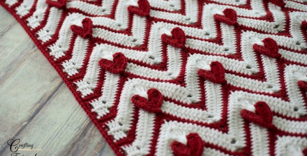 valentine's love crochet blanket pattern
