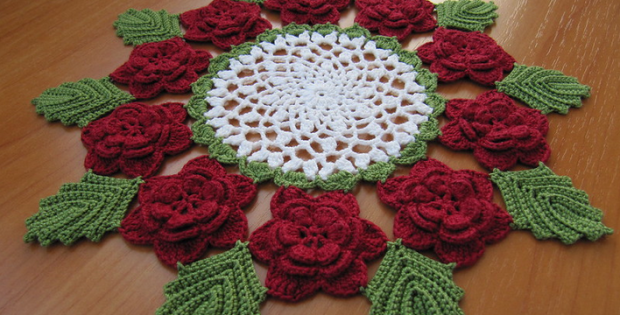 free victorian rose doily crochet pattern for intimate valentines dinner