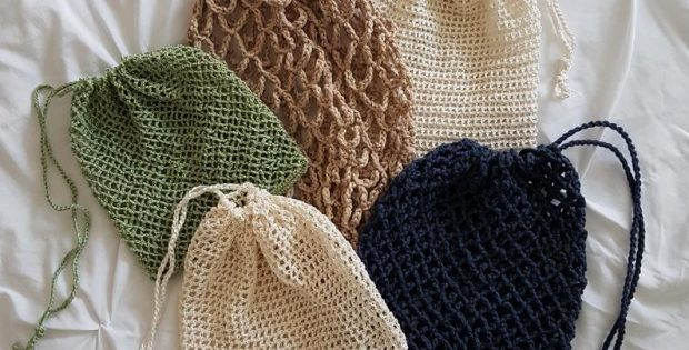Multiuse 5 in 1 Crochet Mesh Laundry Bag Pattern