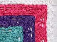 colorful comfortable Dragonfly Crochet Blanket Pattern