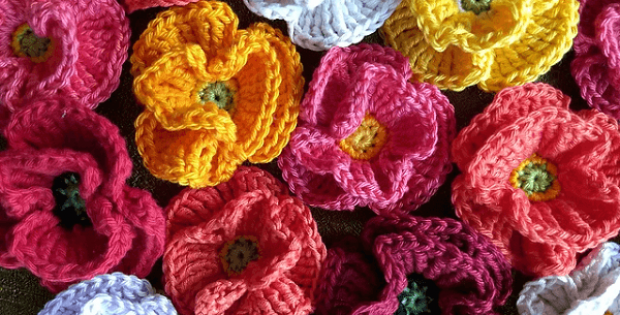 Crochet Poppy Free Pattern by Vera Matrebo
