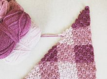 one stitch Corner to Corner Crochet Baby Blanket
