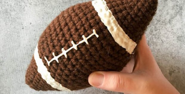 Free Amigurumi Football Pattern By Left in Knots