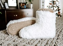 Crochet Modern Faux Fur Ugg Boots By TheCozyKnotCrochet