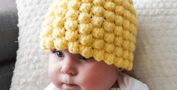 Crochet Pineapple Baby Hat Pattern by Crochet Mille