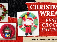 FESTIVE CROCHET CHRISTMAS WREATH PATTERNS