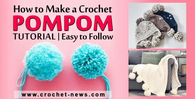 CROCHET POMPOM TUTORIAL EASY TO FOLLOW