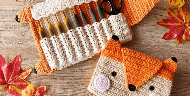 Fox Crochet Hook Case Pattern by Little Hand Crochet