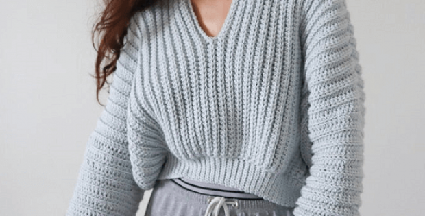 Super Slouchy Crochet Sweater Pattern by The Snugglery Patterns