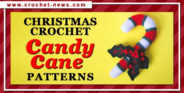 CHRISTMAS CROCHET CANDY CANE PATTERNS