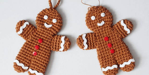 Crochet Gingerbread Man Ornament Pattern by I Heart Gantsilyo