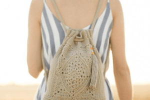 Wildrose Backpack Crochet Pattern by All About Ami