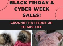 Black Friday and Cyber Week Sale on Crochet Patterns
