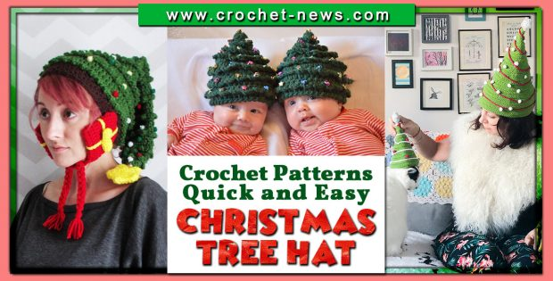 CROCHET CHRISTMAS TREE HAT PATTERNS QUICK AND EASY