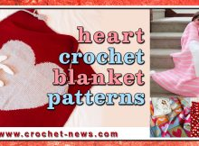 HEART CROCHET BLANKET PATTERNS
