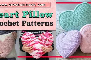 CROCHET HEART PILLOW PATTERNS