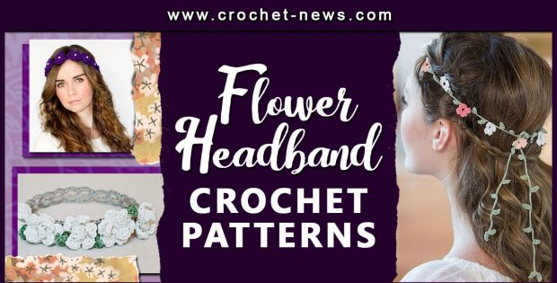 CROCHET FLOWER HEADBAND PATTERNS