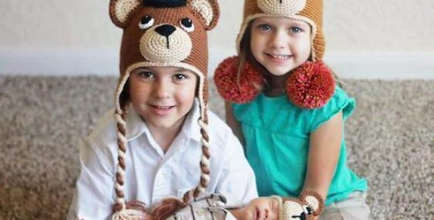Crochet Teddy Bear Hat Pattern by Bri Abby HMA