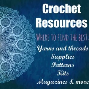 Great Crochet resources page. I found some new suppliers for yarn and tools, and a great list of places to find patterns. Lots more too.