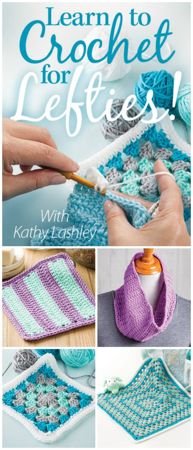 Learn To Crochet Left Handed. Left Handed Crochet Simple Video Class