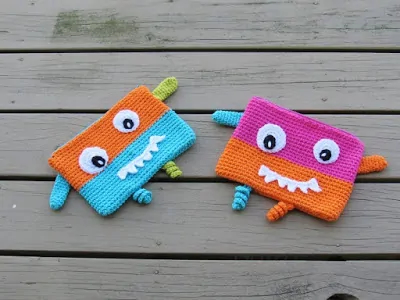 Crochet Pencil Case or Pouch By Crochet Dreamz
