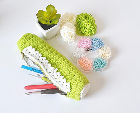 Handy Crochet Pencil Bag By LoopinglyMade