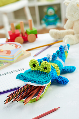 Mister Snaps Crochet Pencil Case Pattern By Irene Strange